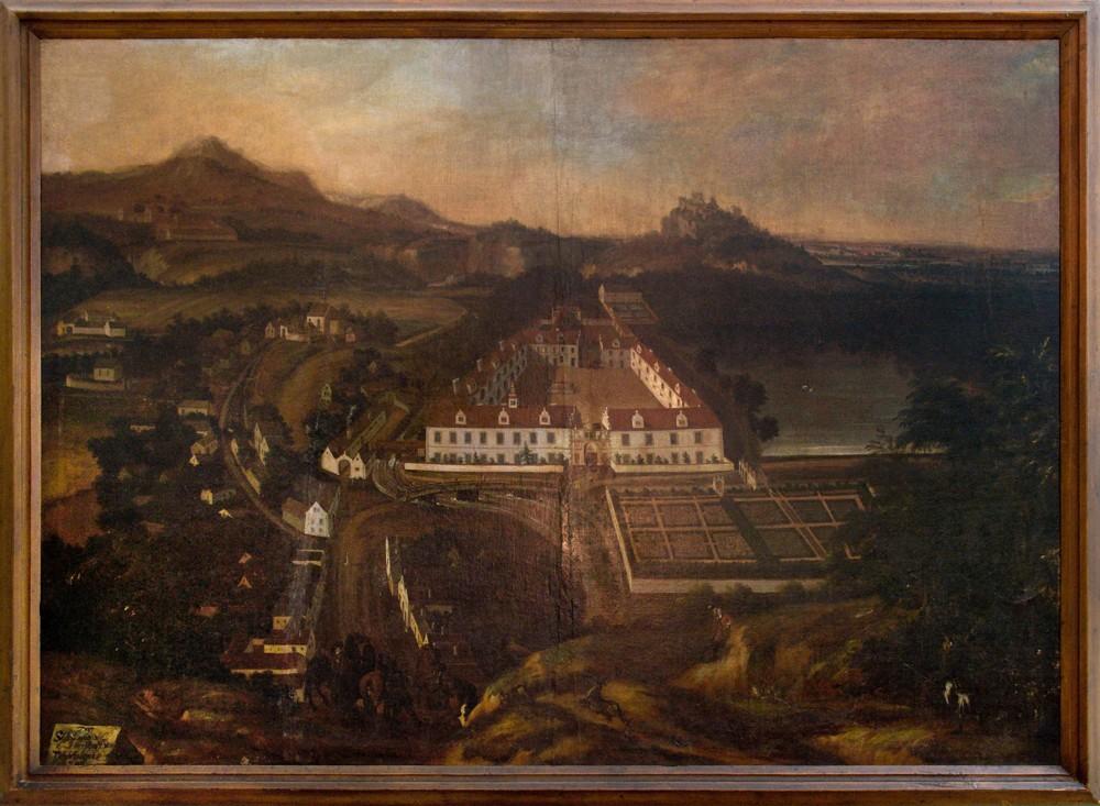 Renesanční podoba zámku v roce 1696